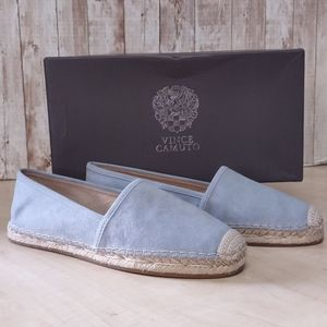 Vince Camuto Chambray Suede Espadrilles Sandals